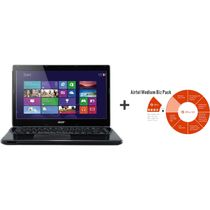 Acer Aspire E1-470P/NX. MF8SI. 001 Laptop (3rd Gen Intel Core i3 3217U - 4GB - 500GB - 14.1 Inches - Windows 8) + Microsoft Office 365 Mid Business Premium (Product Key Card) (No,  black