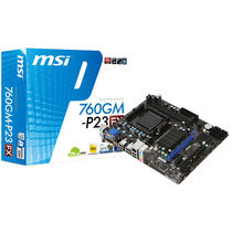 MSI AMD 760G+ SB710 Chipset(760GM-P23 (FX) ), multicolor