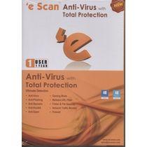 Escan Anti Virus Total Protection, standard-multicolor, 1 user