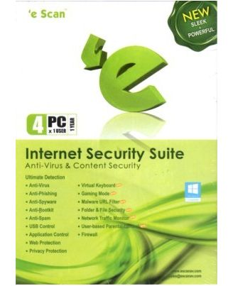 eScan Internet security, standard-green, 4 user