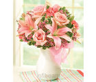 1-800-Flowers Pink Lemonade Bouquet (Lilies,Carnations,Roses)