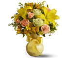 Mixed Flowers Vase (Roses, Gerberas, Carnations)