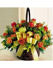 Seasonal Basket Of 36 Lovely Roses Flower Gift
