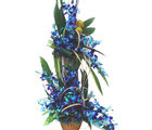 Blue Orchids Basket (Orchids)