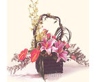Corporate Flower Basket (Anthuriums, Lilies, Roses)