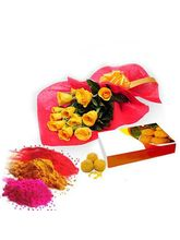 Roses N Motichur Laddu For Holi