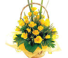 20 Yellow Roses Basket (Roses)