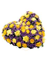 Natural Exotic Yellow Roses Heart Shape Gift