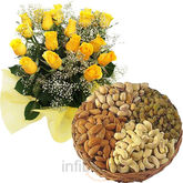 Dryfruits With Roses Bunch