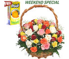 Mixed Roses Basket