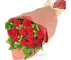 12 Red Roses Bunch (Roses)