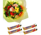 Mixed Gerbera Bunch With 5 Star