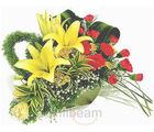 Lily & Carnation Basket (Lilies, Carnations)