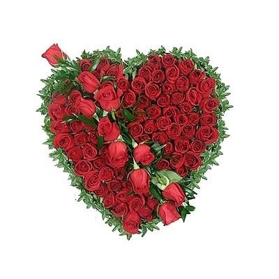 Exotic Red Roses Heart full of Love Flowers 212