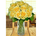 12 Yellow Long Stem Roses (Roses)