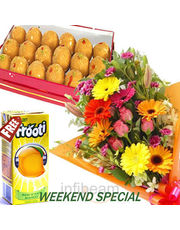 Laddu With Mixed Flower