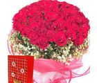 50 Red Roses Bunch (Roses)