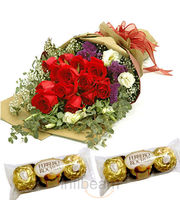 Roses with rocher