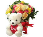 Beary Roses Basket