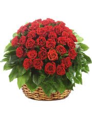 Thirty-Five Red Roses Basket