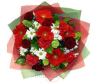 Red Passion (Gerberas, Carnations, Roses, Chrysanthemums)
