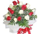 Red N White Bunch (Roses)