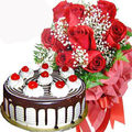 Roses With Blackforest Cake