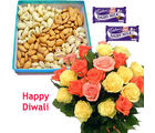 Mix Roses With Dry Fruits