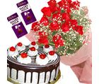 Roses With Black Forest Cake