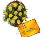 Celebration With Roses Basket