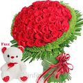 100 Red Roses Bouquet (Roses)