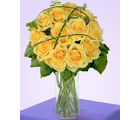 12 Yellow Designer Long Stem Roses (Roses)