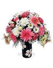 Fresh Bunch Of 20 Carnations N Gerberas Flower