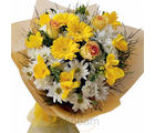 Roses and Gerbera bunch (Gerberas, Roses)