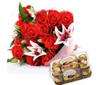 Exotic Flower Gifts & Chocolates Flower Gift 184