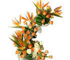 Orange Flower Arrangement (Roses)