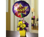 Bright Birthday Wishes (Roses,Gerberas,Daisies)