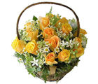 Yellow Roses Basket (Roses)