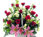 Mixed Flower Basket (Roses)