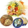 Mixed Flower Bunch With Cookies & Dryfruits