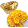 Gerbera Bunch With Dryfruits