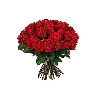 Hand Bunch of 24 Fresh Red Roses Flower Gift 275