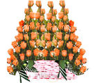 Beautiful Orange Roses Basket (Roses)