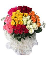 Fresh Mix Cute Dutch Roses Bunch Flower Gift