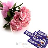 Midnight Roses With Chocolates