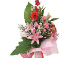 Mixed Flowers Bunch (Carnations, Gerberas, Roses)
