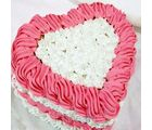 Eggless Heartshape Cake (1 kg, Heart)