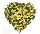 Yellow Roses & Gerbera Heart Bouquet Flowers 211