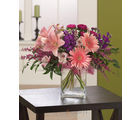 Pink & Purple Celebration (Gerberas,Lilies,Daisies)