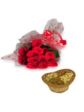 Roses With Dryfruits - EXDFNP113